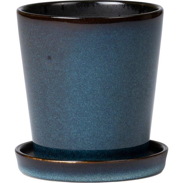 Urtepotteskjuler 10 cm Mørkeblå