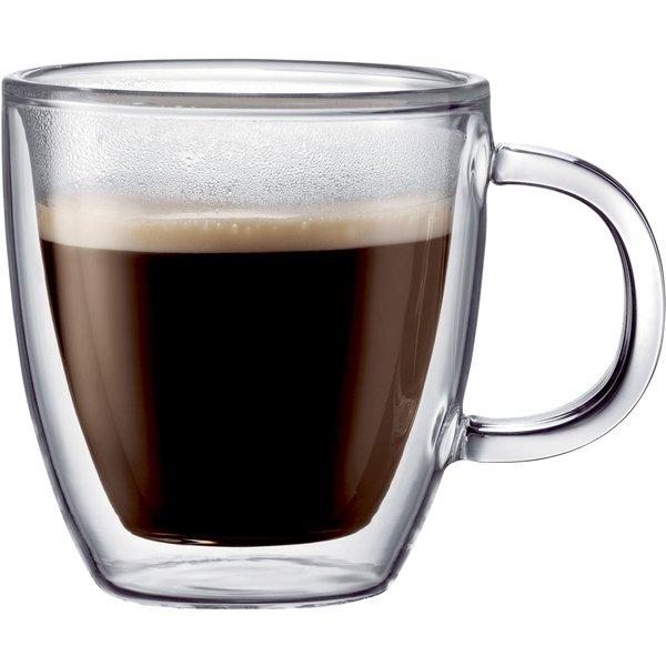 BISTRO dubbelväggat espressoglas m. handtag, 2 st.