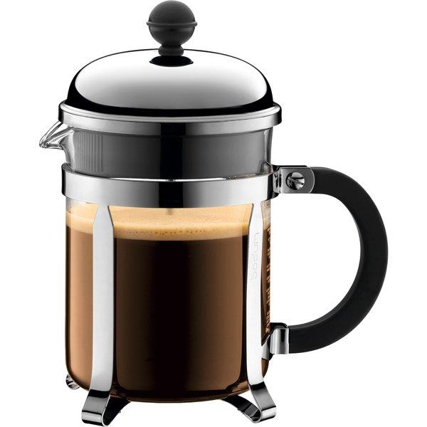 CHAMBORD Kaffebrygger 4 kopper, 0.5 l Krom