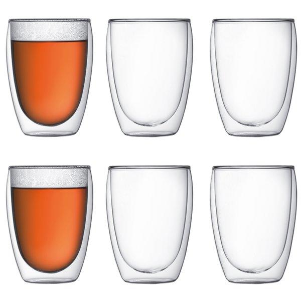 Pavina Dubbelväggigt glas Medium 6 pack