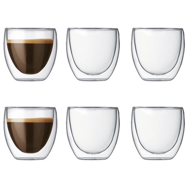 Pavina Glass Espresso med Doble Vegger 6 stk