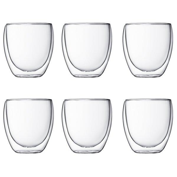 Pavina dobbeltvægget glas, 0,25 l, 6 stk.