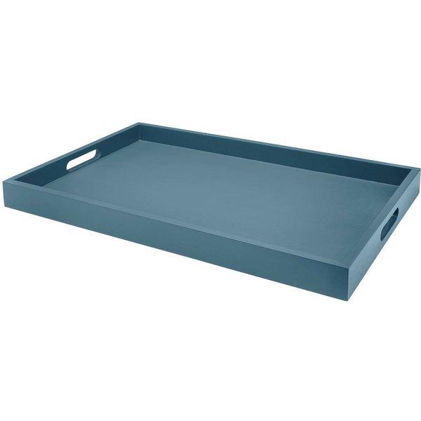 Träbricka Sarah Blue Mirage 55x35 cm