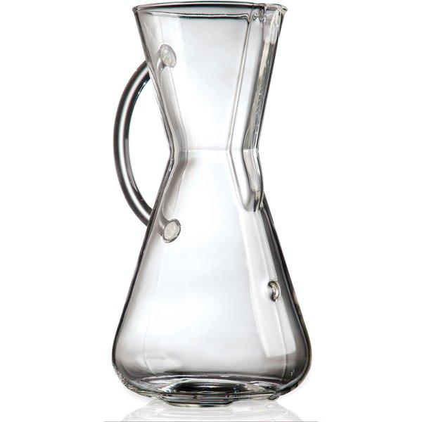 Kaffetrakter 3 Kopper Glass Handle