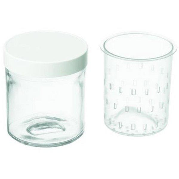 Tillbehörspaket till Yoghurt & Cheese Maker med 2 Burkar+Plastlock 250 ml