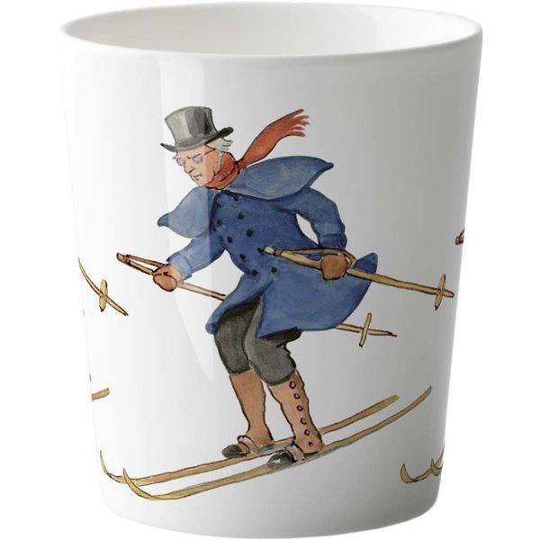 Elsa Beskow mugg 28 cl - Uncle Blue is skiing