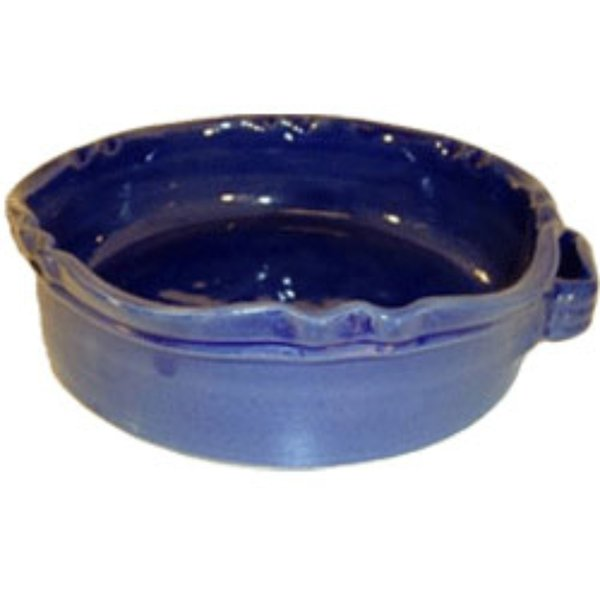 Rund Gratengform Provence Marineblå B:32 H:8 cm