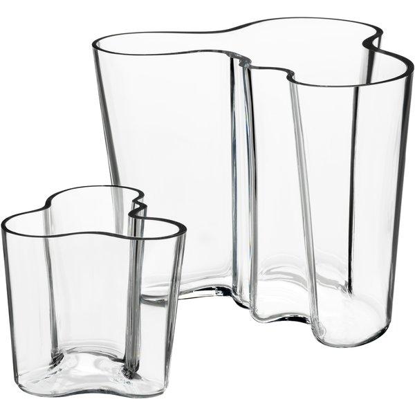 Alvar Aalto Collection Vase Gavesett 160+95 mm Klar