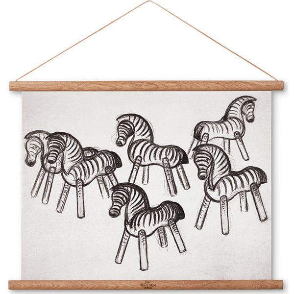 Zebra ritning, 40 x 30 cm.