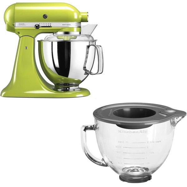 Artisan 175 køkkenmaskine (Æblegrøn) + glasskål