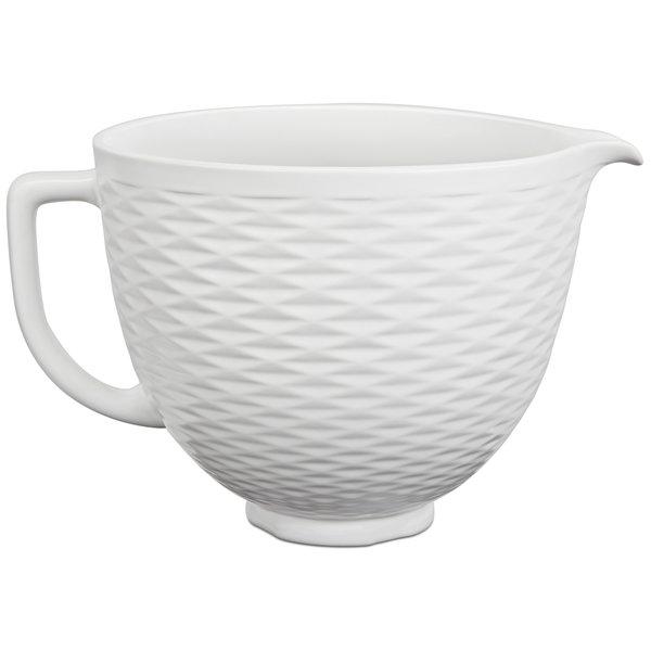 Keramikskål Embossed White 4,7 L