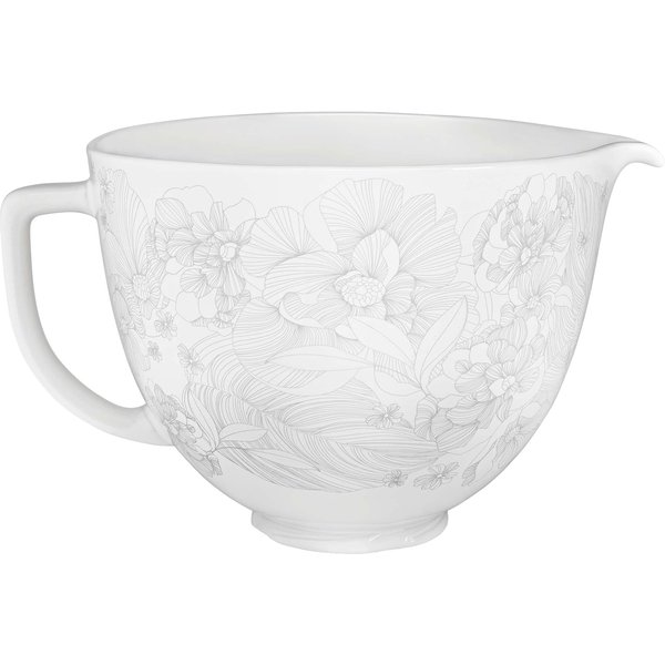 Keramikskål 4,7 L blomsterprint