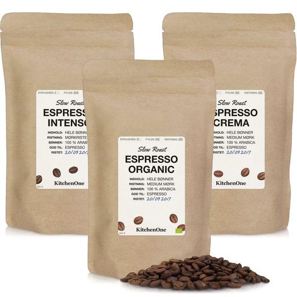 Prøvepakke kaffebønner (espresso)