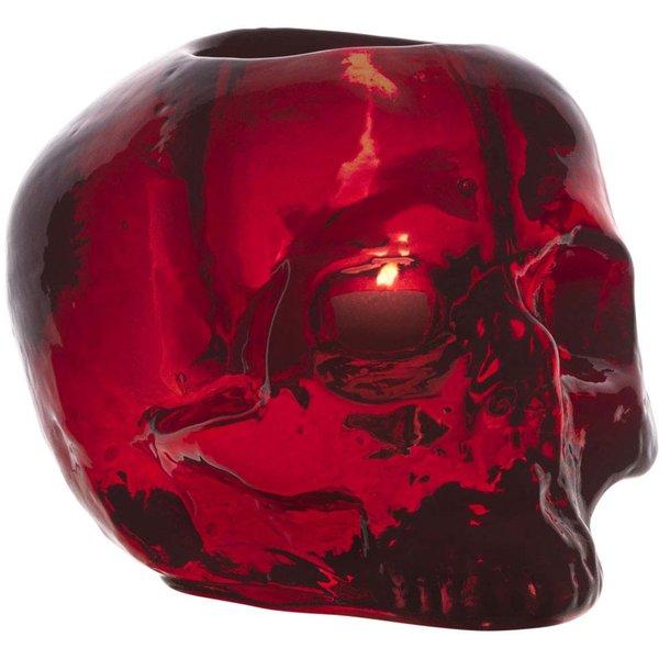 Still Life Skull Lyslykt Rød
