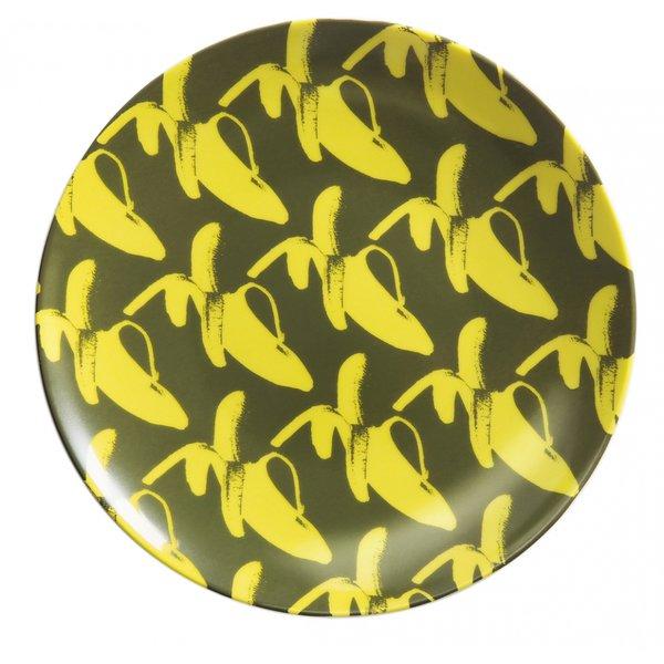 Porslinstallrik 20 cm GO BANANAS! Yellow Fellow