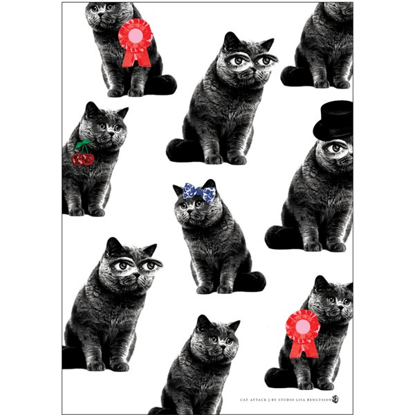A3 Poster Cat Attack
