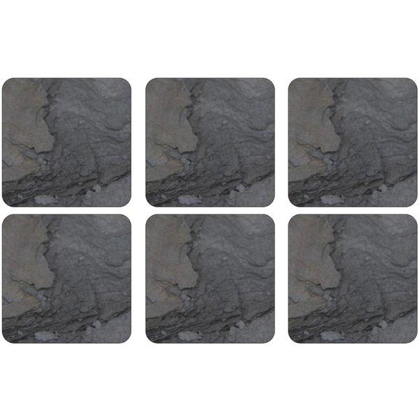 Midnight Slate Glasunderlägg 6-pack
