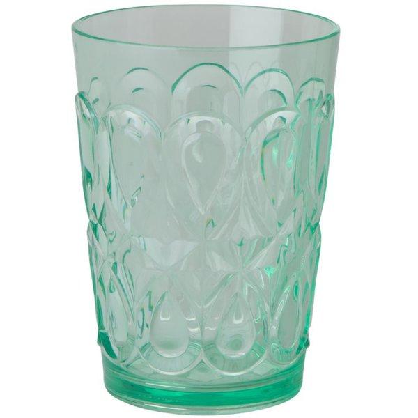 """""""Swirly Embossed"""" Tumbler Glass Pastellgrønn"""