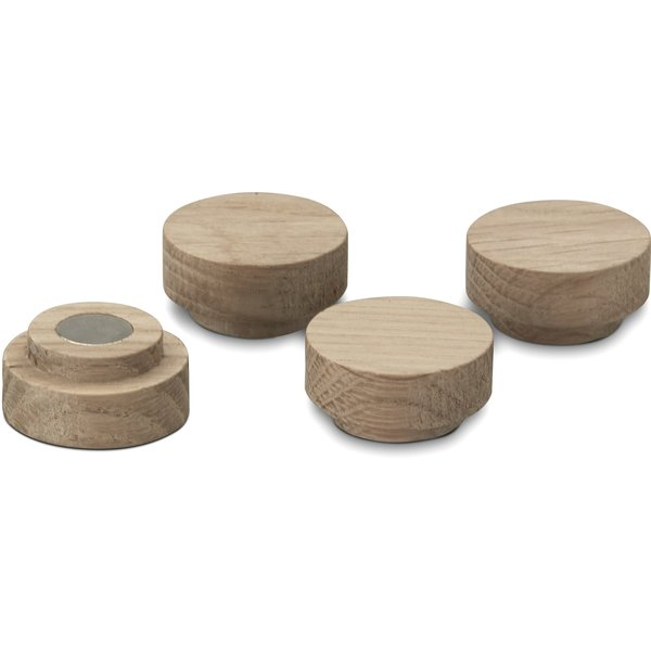 Notice Magnets, 4pcs, oak
