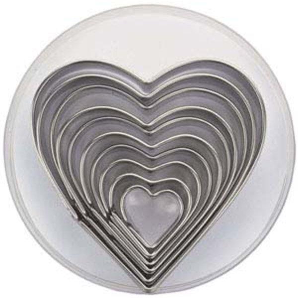 Kakeformer Hjerter 10 stk i Oppbevaringseske
