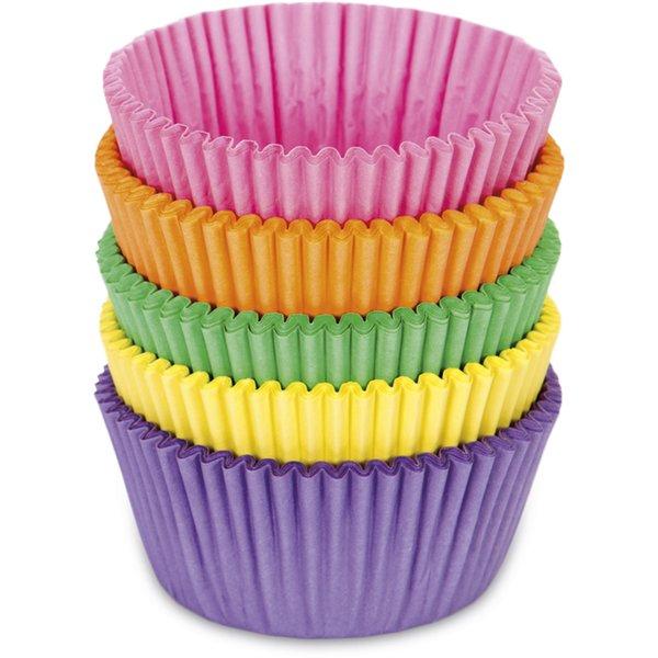 Papirforme Boller/Muffins Farverig mix 100 stk