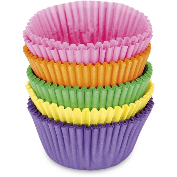 Papirforme Mini Boller/Muffins Farverig Mix 100 stk
