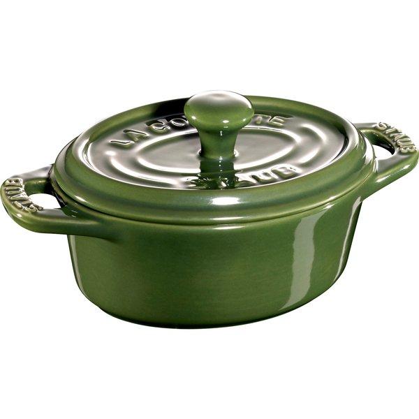 Ceramic Oval minigryde, grøn